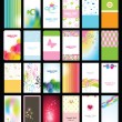 Set of colorful cards — Stock Vector #7175174