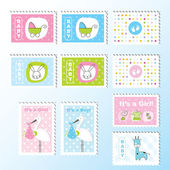 Baby stamps — Stock Vector