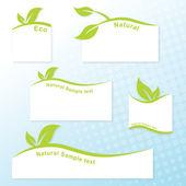 Eco templates — Stock Vector