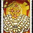 Postage stamp. Amelia Pelaez. Flores Amarillas. — Stock Photo