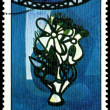 Postage stamp. Amelia Pelaez. Still life with Flower — Stock Photo