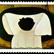 Postage stamp. Amelia  Pelaez.  The White Mantle. — Stock Photo
