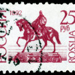 Vintage postage stamp. Monument to Yuri Dolgoruky. — Stock Photo
