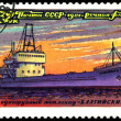 "Vintage postage stamp. Dry cargo ship "" Baltic "". — Stock Photo"