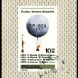Vintage postage stamp.     Air-balloon.  Puchar Gordon - Bennett - Stock Photo