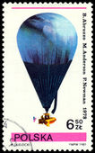 Timbre-poste vintage. ballon. b. arbuzzo, m. anderson, p. — Photo