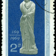 Vintage postage stamp. Roman statue of woman. — Stock Photo