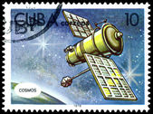 Vintage postage stamp. Flight in space. — Stock Photo