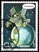 老式的邮票。国际. — 图库照片