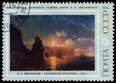 Vintage postage stamp. Aivazovsky. St. George's Monastery. — Stock Photo