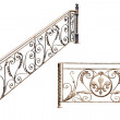Decorative fence of the stairways, balcony, galleries. — Stock Photo #7834978