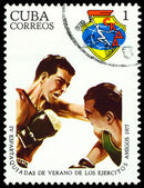 Vintage postage stamp. Boxing. — Stock Photo