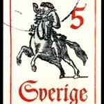 Vintage postage stamp. Postrider. — Stock Photo #7876730