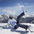 Snow, ski, sun and fun — Stock Photo