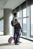 Esperando el vuelo — Foto de Stock