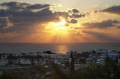 Pafos City Sunset, Cyprus — Stock Photo