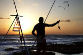 Catching the Fish — Stock Photo