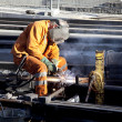 Welder in work — Stockfoto