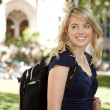 Royalty-Free Stock Photo: Happy College Girl