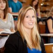 Smiling Student in Class — Stock Photo
