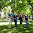 University Friends on Campus — Stock Photo