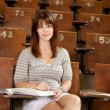 Student in Lecture Hall — Stock Photo