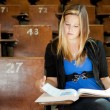 College Girl with Text Book — Stock Photo #6808716