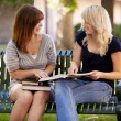 Students Outdoor Study — Stock Photo