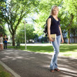 College Girl Walking to Class — Stock Photo #6809534