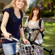 Students with Bikes — Stock Photo