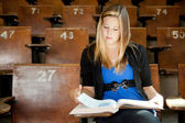 College Girl with Text Book — Stock Photo