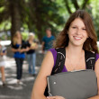 Casual College Girl — Stock Photo