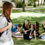 University Students Study Group — Stock Photo