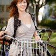 Portrait of Student with Bike — Stock Photo #6811038