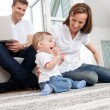 Happy family at home — Stock Photo #6811359