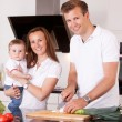 Family Preparing Meal — Stock Photo #6815533