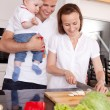 Happy Family in Kitchen — Stock Photo #6815620