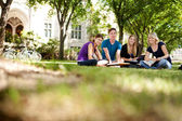 Happy Students on Campus — Stock Photo