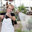 Senior Greenhouse Worker — Stock Photo