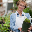 Senior Woman with Potted Plant — Stock Photo #6910116