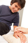 Shonishin Acupuncture with Yoneyama Tool — Stock Photo