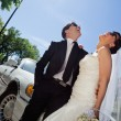 Wedding Couple Laugh — Stock Photo #6959900