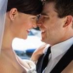 Romantic Happy Wedding Couple — Stock Photo