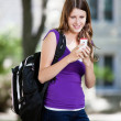 Girl using cell phone — Stock Photo #6961486
