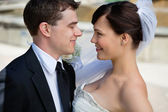 Newly married couple — Stock Photo