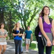 Foto Stock: College Students Outside