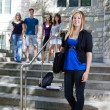 Foto Stock: Students at college