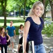 Stock Photo: Young college girl