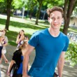 Male on College Campus — Stock Photo