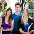 College students on campus — Foto Stock #6989555